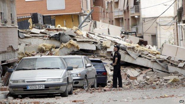 Earthquake in Lorca Spain