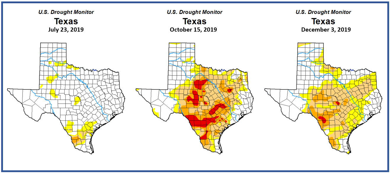 The 2019 Texas Drought - Water-Levels Observed in Pumping ... Drought Map Texas on texas energy map, texas disease map, texas stream map, texas climate map, texas drainage map, texas coastal management map, the woodlands texas faultlines map, texas light map, texas cold front map, texas tsunami map, texas migration map, texas ozone map, texas fall color map, texas wildfires, texas highway 16 map, texas blizzard map, texas arizona new mexico map, plant native texas regions map, texas record cold map, texas air mass map,